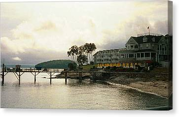 Resort In Bar Harbor Canvas Print by Judith Morris