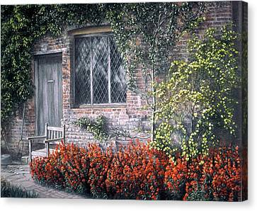Canvas Print featuring the painting Rest Awhile by Rosemary Colyer