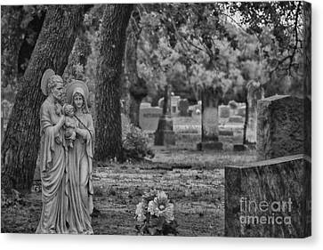 R.i.p Canvas Print - Rest In Peace-black And White by Douglas Barnard