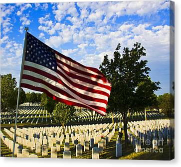 Rest In Peace Fort Snelling National Cemetery Canvas Print