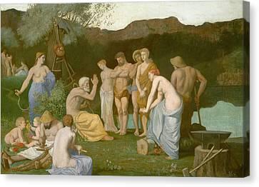 Rest Canvas Print by Pierre Puvis de Chavannes
