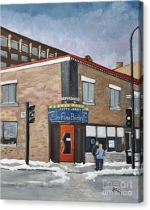 Restaurant A La Fine Pointe Canvas Print by Reb Frost