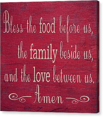 Restaurant Blessing In Red Canvas Print by Dan Sproul