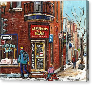 Restaurant John Canvas Print by Carole Spandau
