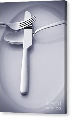 Restaurant Menu Concept Canvas Print