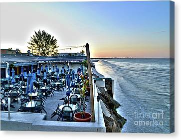 Restaurant On Fort Myers Beach Florida Canvas Print
