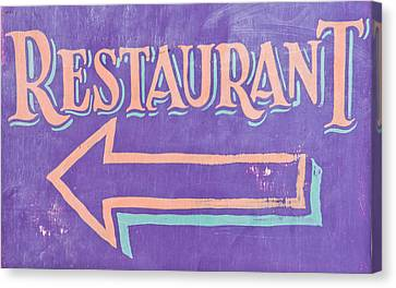 Restaurant Canvas Print by Tom Gowanlock