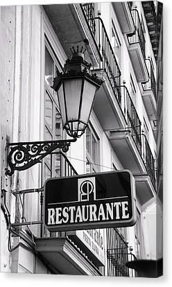 Restaurante Canvas Print by Alicia Morales