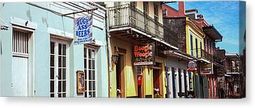 Restaurants Along Bourbon Street Canvas Print