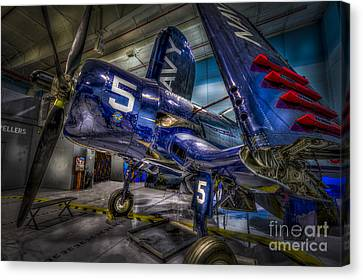 Aircraft Carrier Canvas Print - Resting Bird by Marvin Spates
