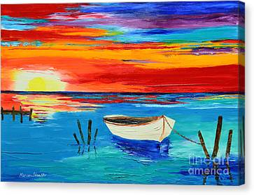 Resting Boat Canvas Print by Mariana Stauffer