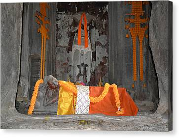 Resting Buddha Canvas Print by Bill Mock