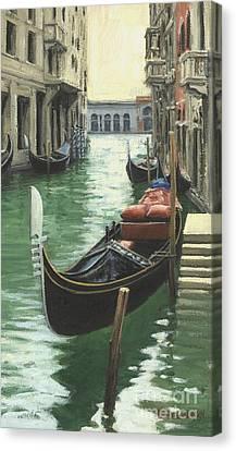 Resting Gondola Canvas Print by Michael Swanson