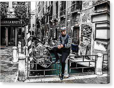 Resting In Venice  Canvas Print