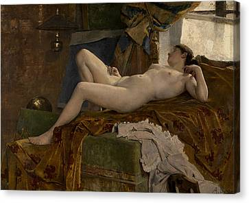 Resting Model Canvas Print by Auguste Durst
