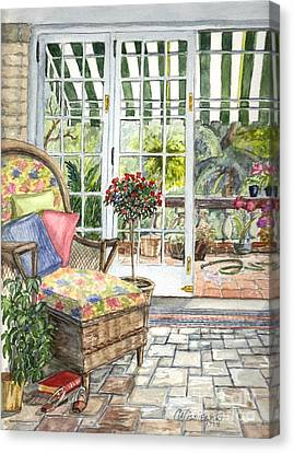 Resting On The Lanai Part 1 Canvas Print by Carol Wisniewski