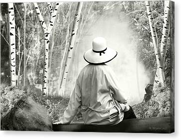 Resting Place - B/w Canvas Print by Melisa Meyers