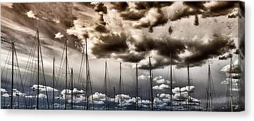 Resting Sailboats Canvas Print