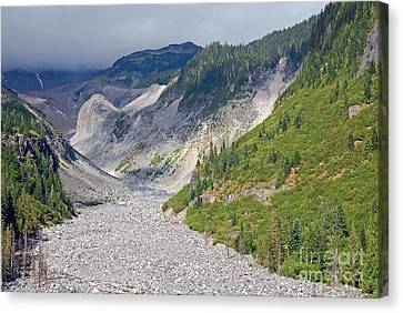Restless Glaciers At Mount Rainier National Park Canvas Print