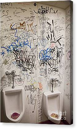 Restroom Graffiti Canvas Print