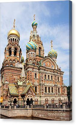 Resurrection Church - St Petersburg Russia Canvas Print by Christiane Schulze Art And Photography