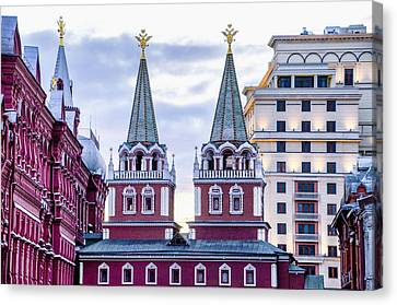 St John The Russian Canvas Print - Resurrection Gate - Red Square - Moscow Russia by Jon Berghoff
