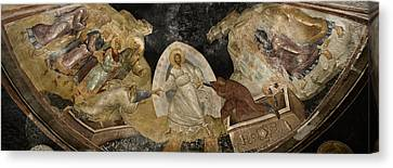 Icon Byzantine Canvas Print - Resurrection Of Adam And Eve Panorama by Stephen Stookey