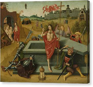 Resurrection Of Christ, Circle Of Master Of The Amsterdam Canvas Print