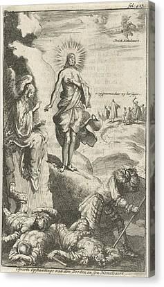 Resurrection Of Christ, Jan Luyken, Jan Claesz Ten Hoorn Canvas Print