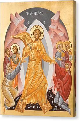 Resurrection Of Christ Canvas Print by Julia Bridget Hayes
