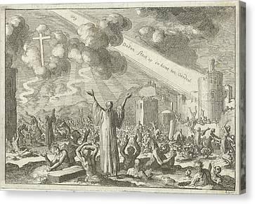 Resurrection Of The Dead, Print Maker Jan Luyken Canvas Print