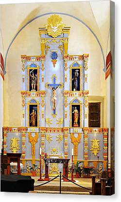 Retablo Mission San Jose Canvas Print by Christine Till