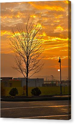 Retail Dawn Canvas Print