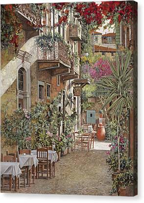 Wine Scene Canvas Print - Rethimnon-crete-greece by Guido Borelli