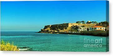 Rethymnon Fort Panorama 02 Canvas Print by Antony McAulay