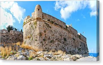 Rethymnon Fort Panorama 03 Canvas Print by Antony McAulay
