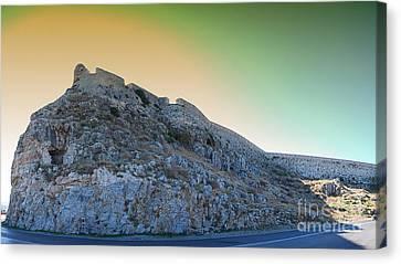 Rethymnon Fort Panorama Canvas Print by Antony McAulay