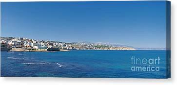 Rethymnon Panorama Canvas Print by Antony McAulay