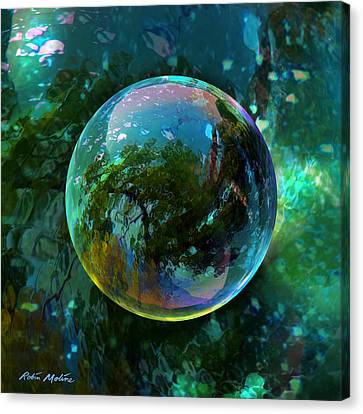 Round Canvas Print - Reticulated Dream Orb by Robin Moline