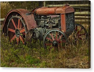 Retired Fordson Tractor Canvas Print by Susan Candelario