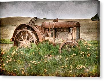 Retired In Poppies Canvas Print