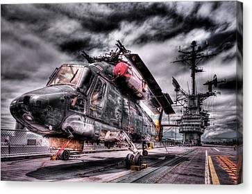 Retired Pilot Canvas Print
