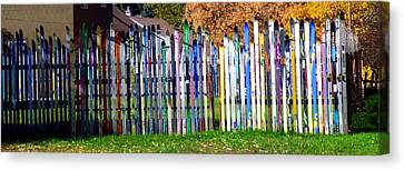 Canvas Print featuring the photograph Retired Skis  by Jackie Carpenter