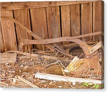 Canvas Print featuring the photograph Retired Tools by Nick Kirby