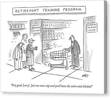 'retirement Training Program' Very Good Canvas Print by Kim Warp