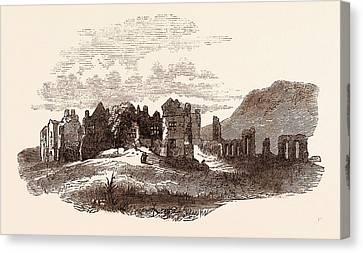 Retreat Of Edward II  To Neath Abbey, A Cistercian Monastery Canvas Print by English School