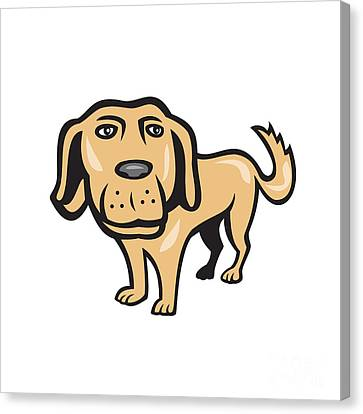 Retriever Dog Big Head Isolated Cartoon Canvas Print by Aloysius Patrimonio