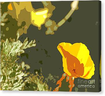 Retro Abstract Poppies 4 Canvas Print by Artist and Photographer Laura Wrede