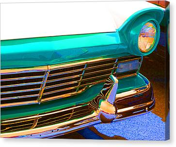 Retro Auto One Canvas Print by Denise Beverly