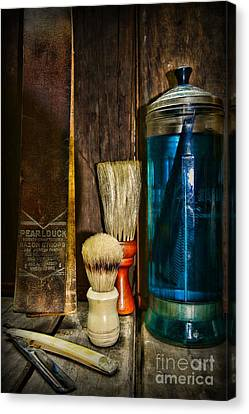 Retro Barber Tools Canvas Print by Paul Ward